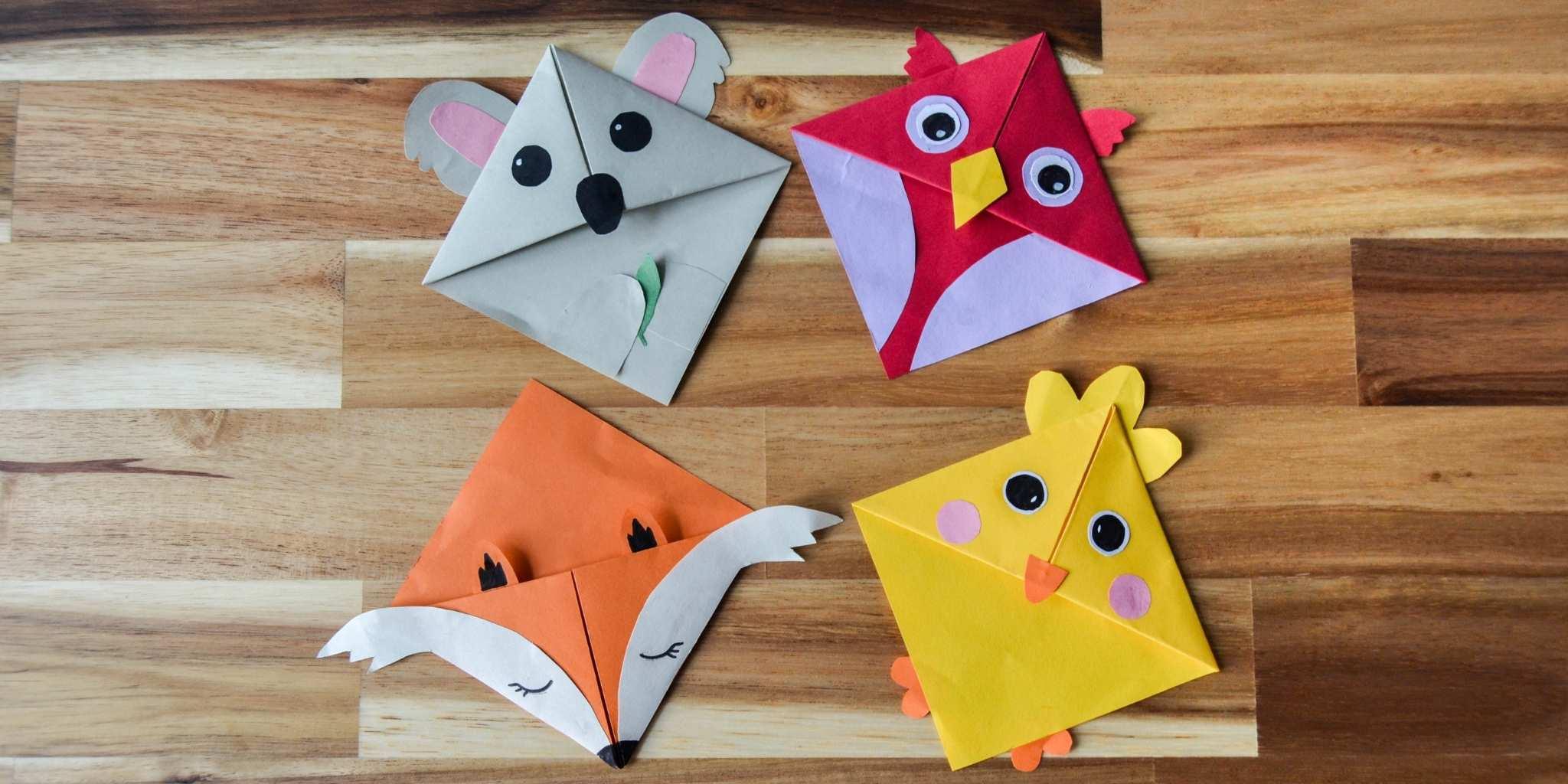 Manualidad para niños: separadores de origami paso a paso