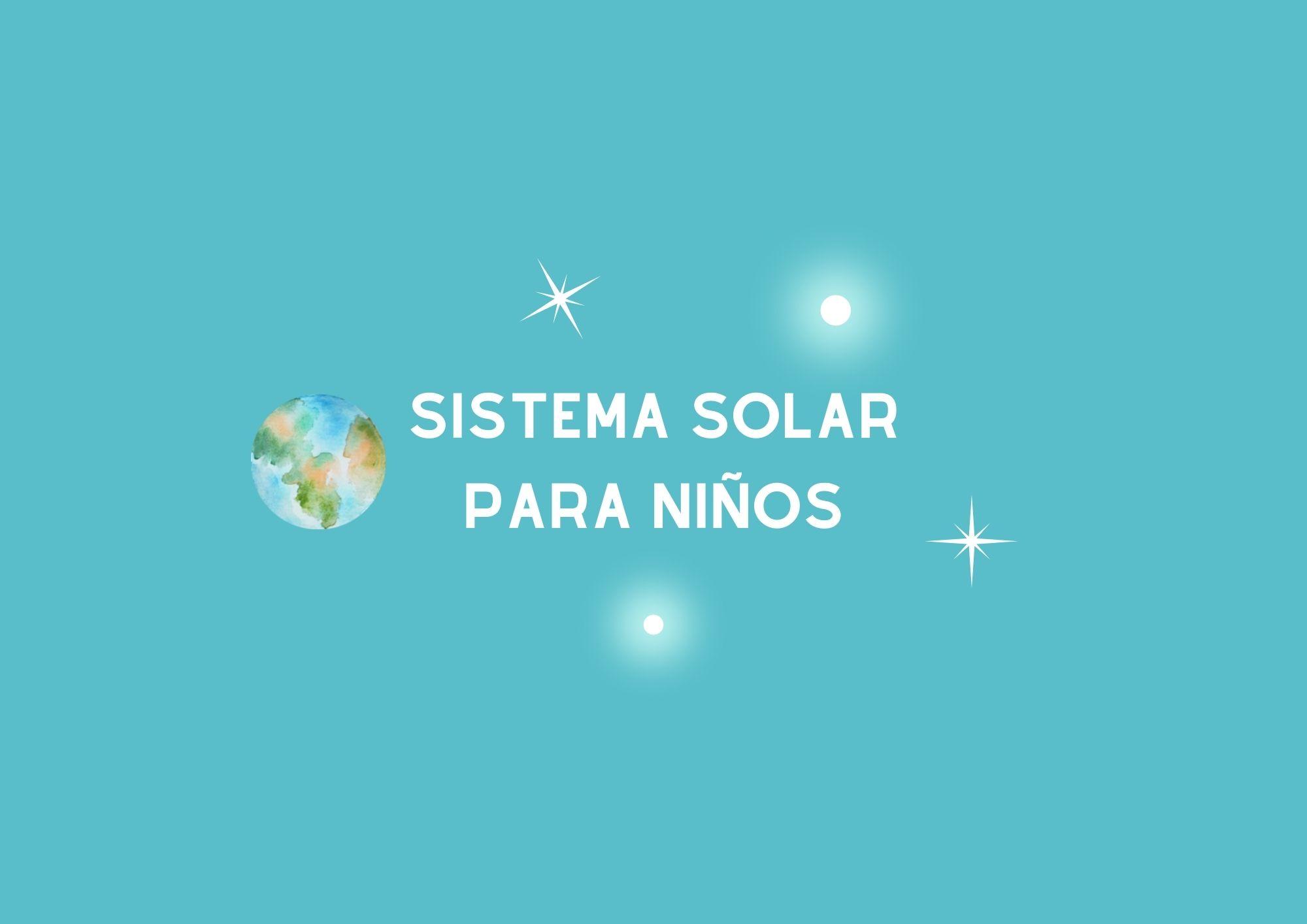 Actividad del sistema solar para niños