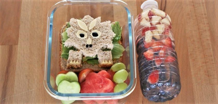 Ideas para la caja del almuerzo para niños | Fiambrera de dinosaurio