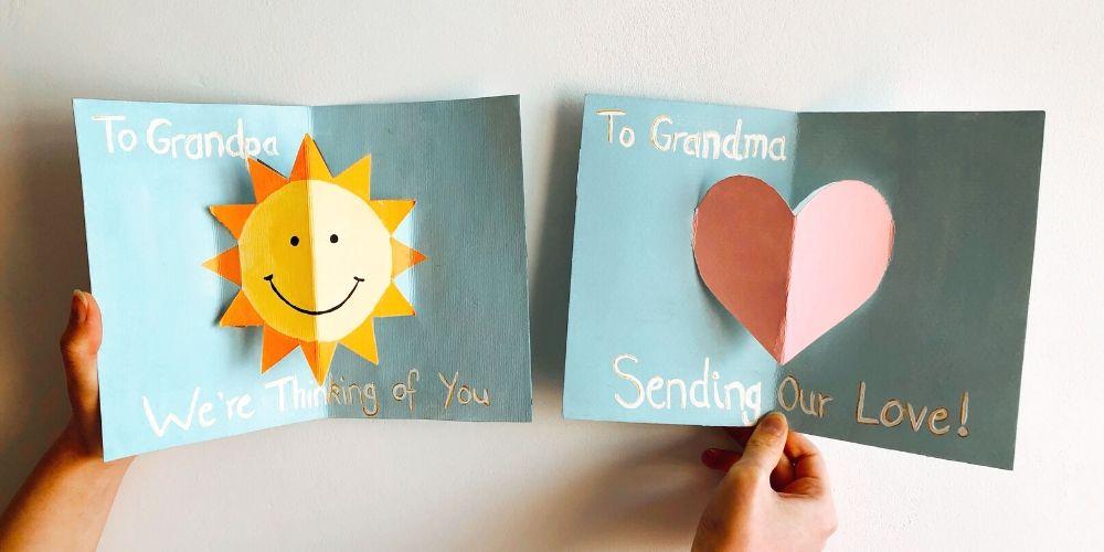 Itsetehdyt kortit isovanhemmille