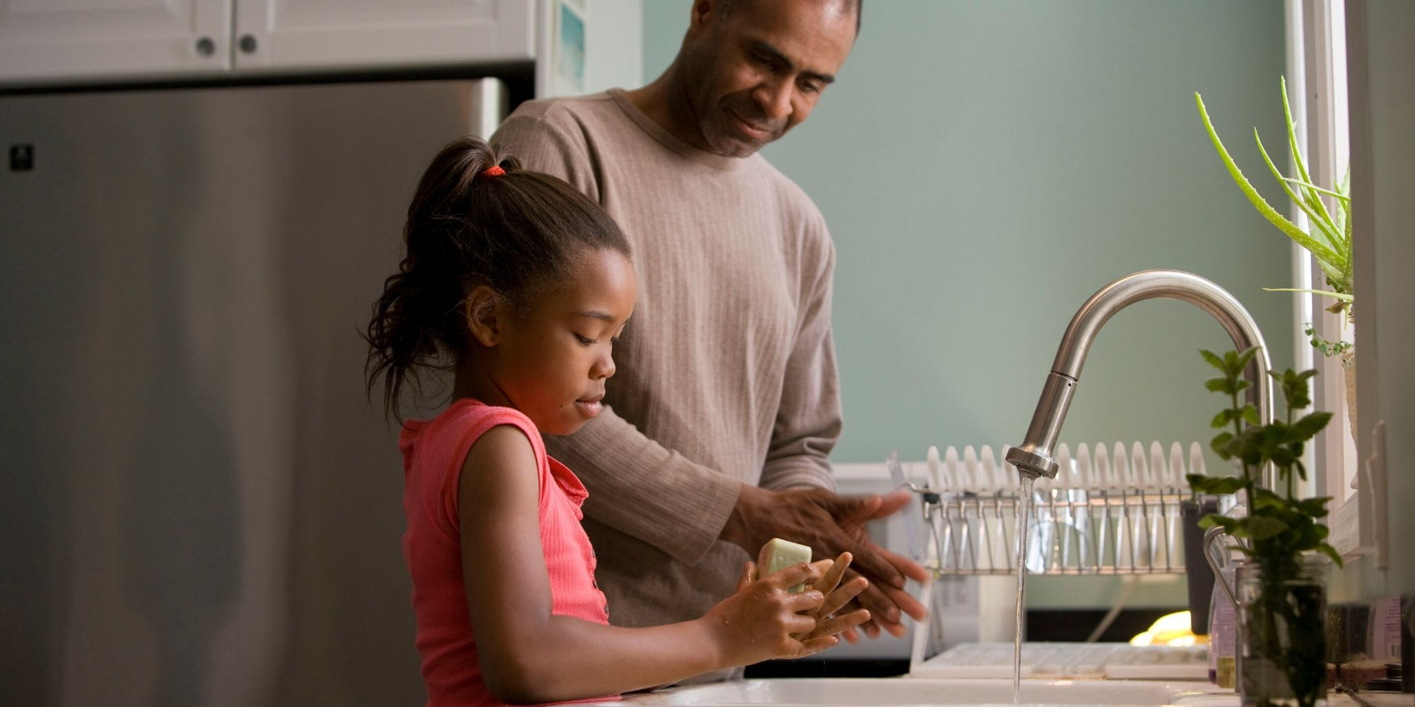 Lasten käsienpesu