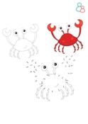 Kleurplaat krab