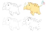 Kleurplaat neushoorn