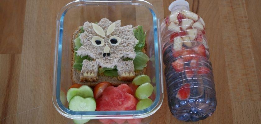 Idėjos vaiko pietų dėžutei | Dinozauriška pietų dėžutė
