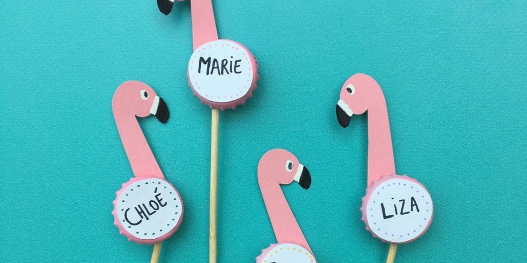 Flamingo naamkaartjes