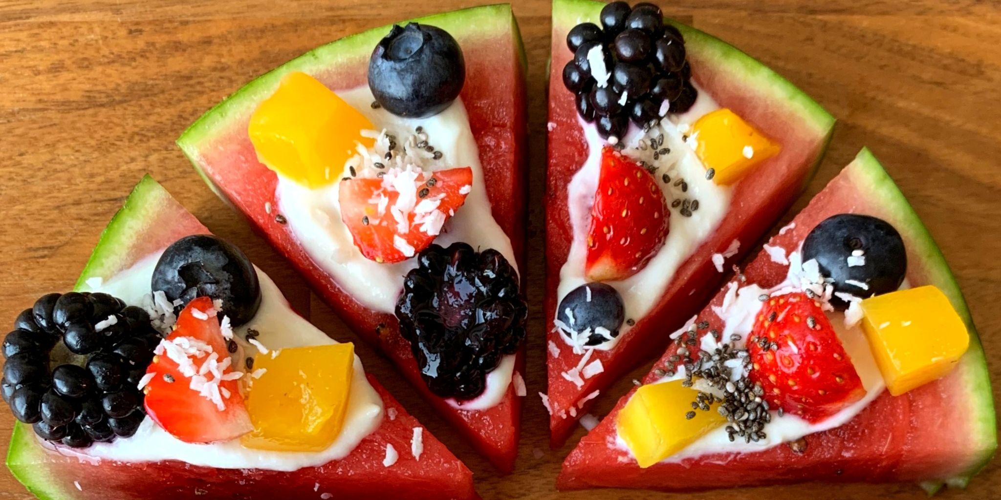 Gezonde snack - Watermeloenpizza