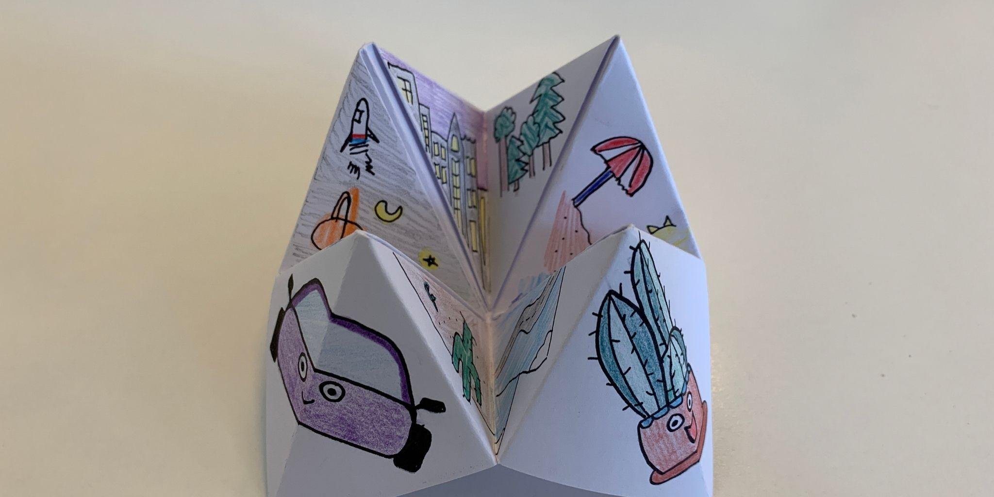 Origami verhalenverteller