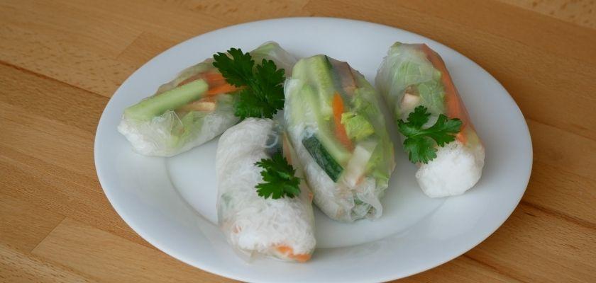 Vegan Springrolls Recept met Pindasaus