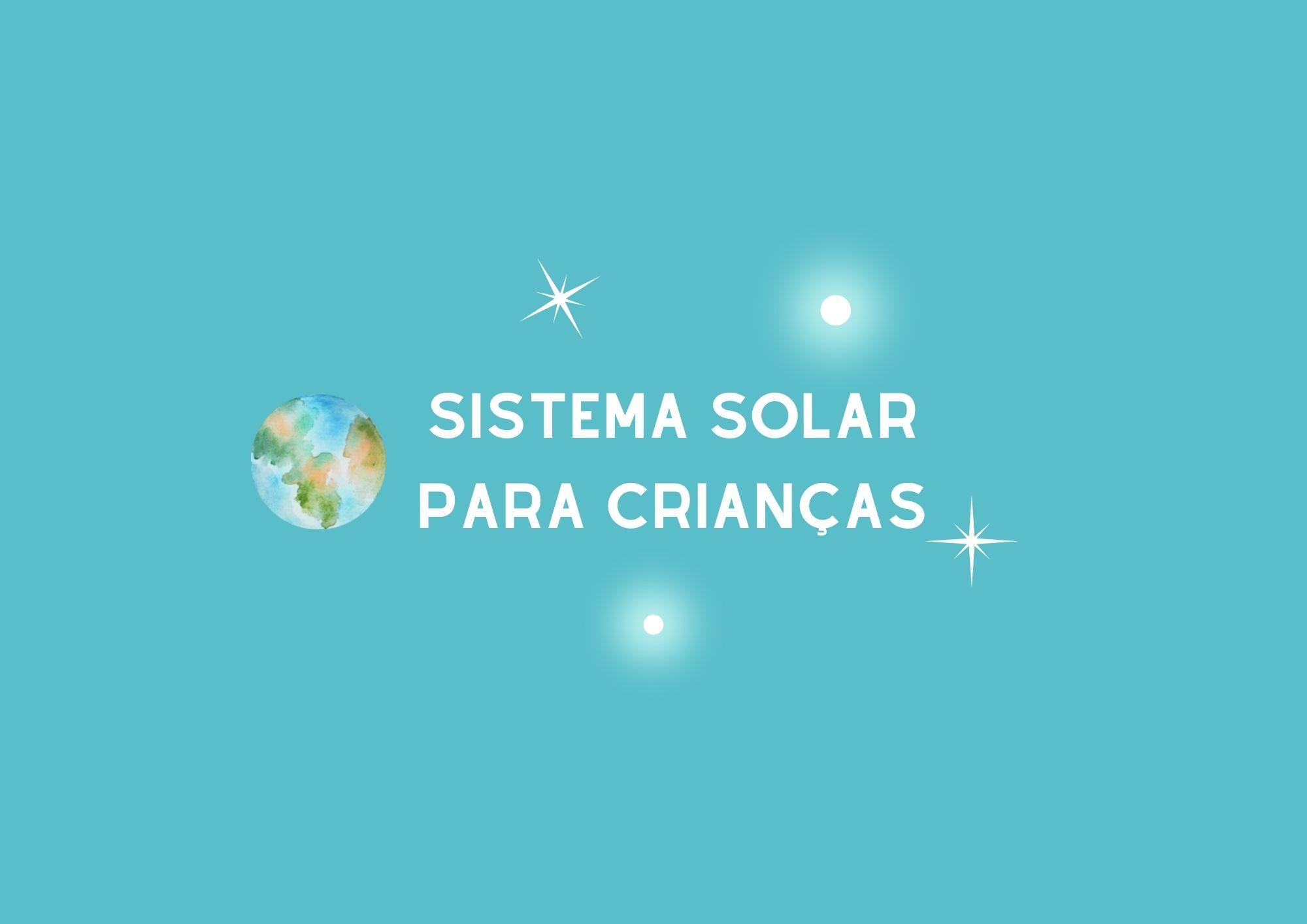 Atividade sobre o Sistema Solar para Crianças