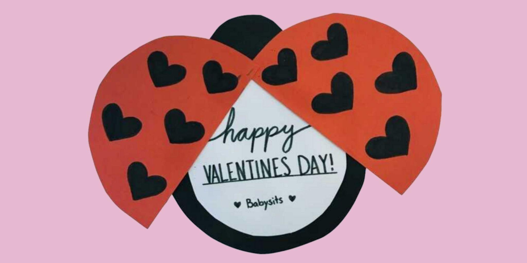 Cartão em forma de joaninha para o dia dos namorados