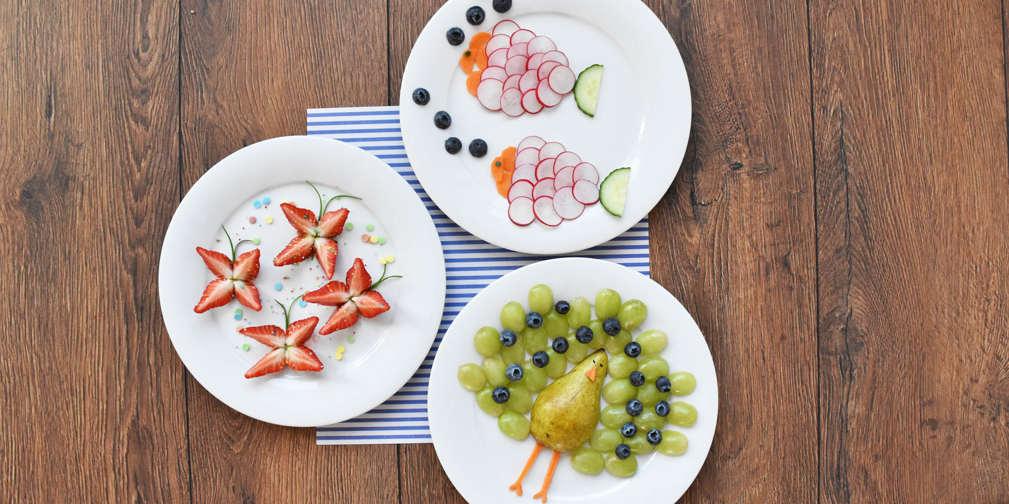 Comer frutas pode ser muito divertido