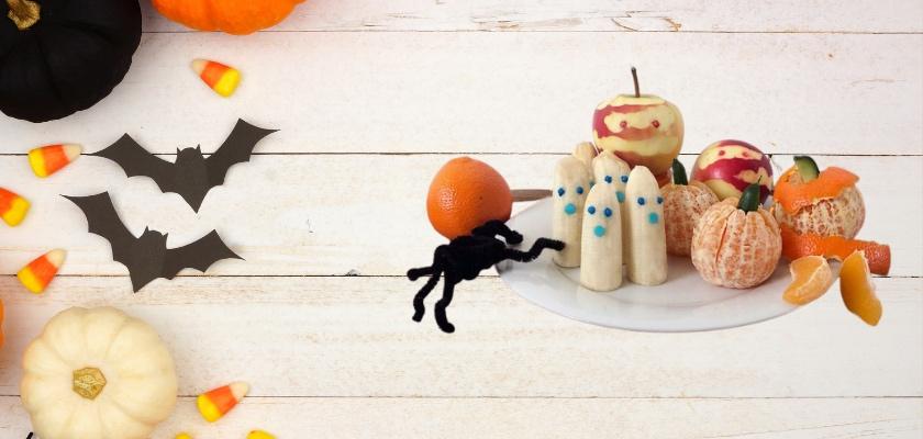 Doces de halloween saudáveis para crianças