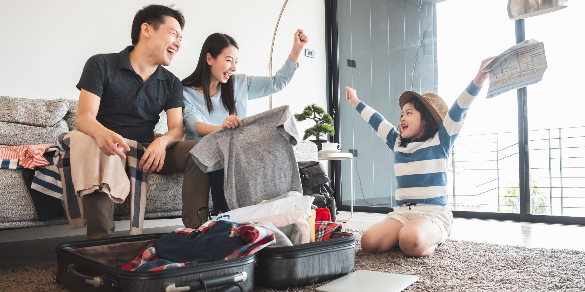 Viagem virtual ao redor do mundo para as famílias