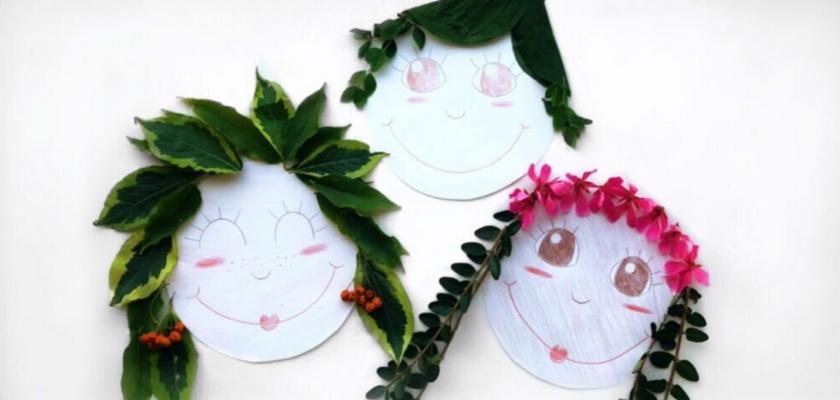 DIY za otroke; Obrazi iz listov