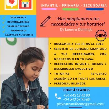 Agencia de cuidado de niños en Alcalá de Henares: Pick, Care and Home