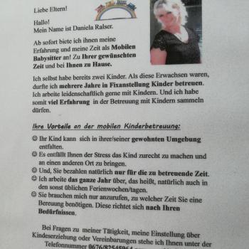 Babysitter Salzburg: Ralser Daniela