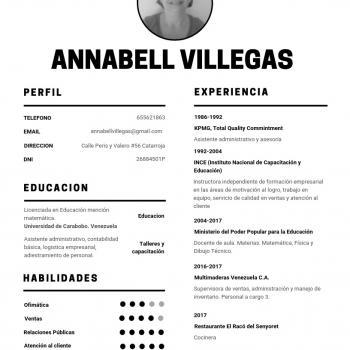 Niñera Catarroja: Annabell Villegas