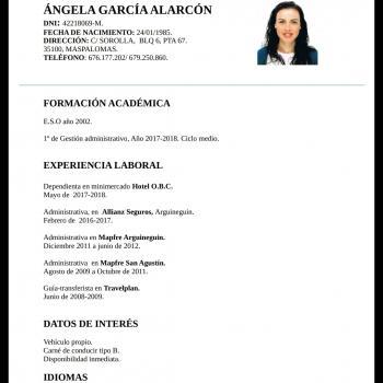 Padre/madre San Bartolomé de Tirajana: trabajo de canguro Angela