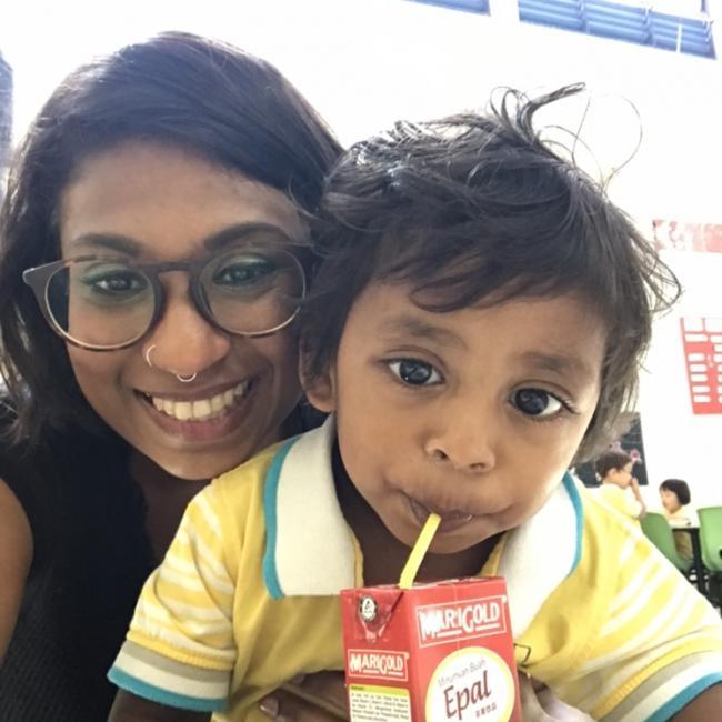 Babysitting job in Singapore: Geeta Herikstad
