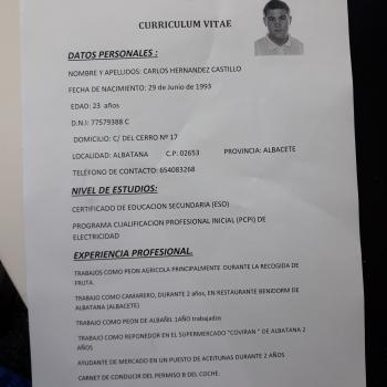 Cuidador(a) Albatana: Carlos